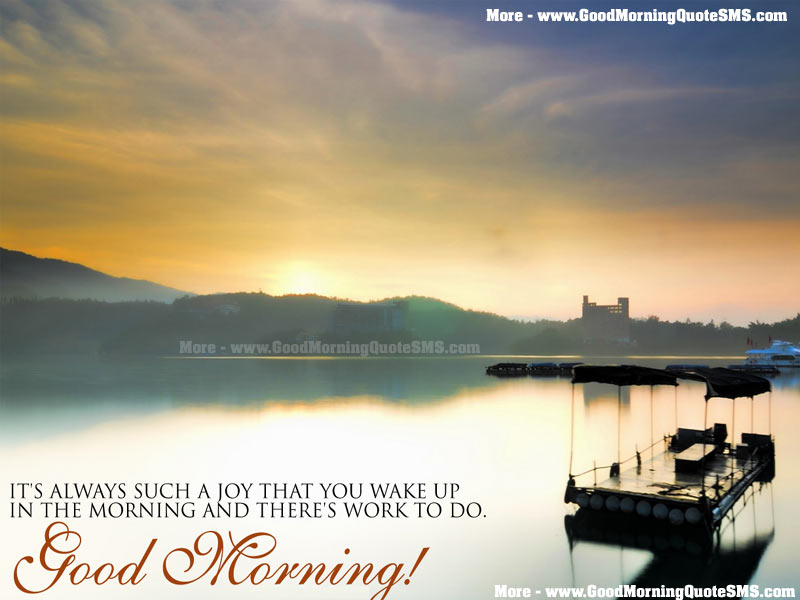 Good Morning Quotes with Images - Cute Morning Greetings, SMS, Thoughts Images, Wallpapers