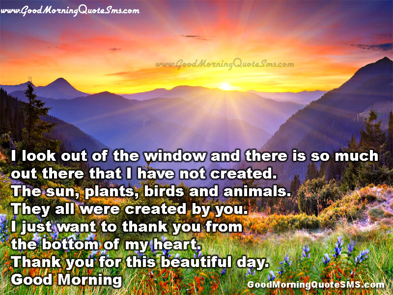 Good Morning Thanks You God Quotes - Good Morning Lord Message with Wallpapers, Image, Photos, Pictures Download