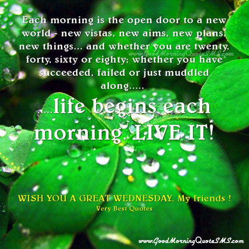 Beautiful Wednesday Morning Wishes - Happy Wednesday Picture Message Images, Wallpapers, Photos, Pictures Download