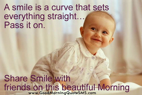 Good Morning Smiling Baby Quotes Images, Pictures