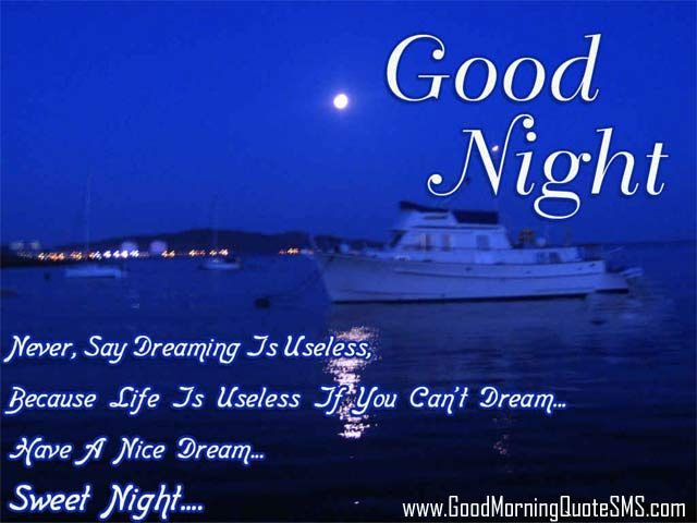 Good Night Quotes in English Images, Wallpapers, Photos, Pictures