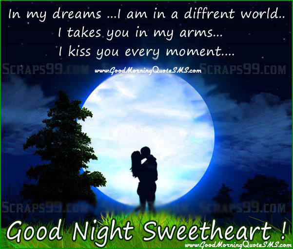 Good Night Wishes for Girlfriend, Romantic Messages Quotes for Her Images
