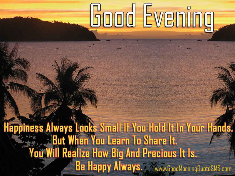 Good Evening Quotes Images, Wallpapers, Photos, Pictures Download