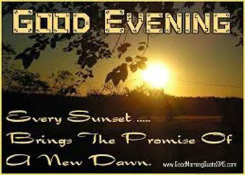 Happy Evening SMS Pictures