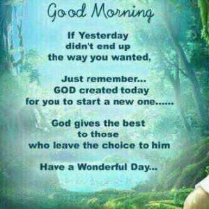 Good Morning Have a Wonderful Day God Blessing Quotes Sayings Messages ...
