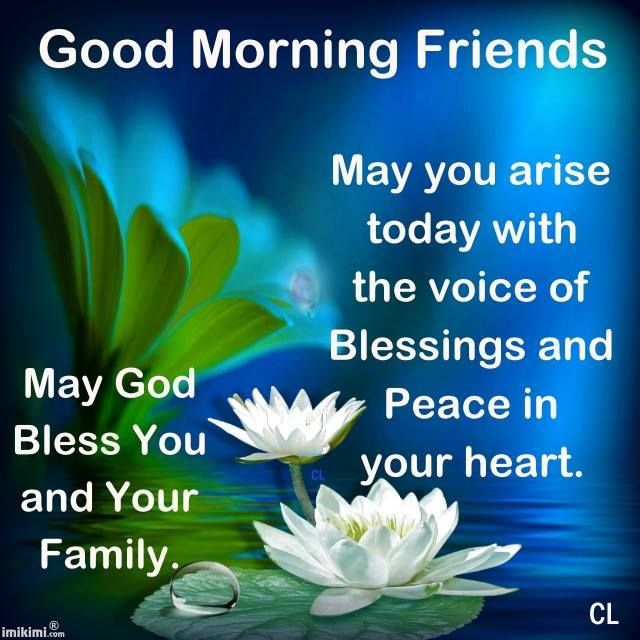 May God Bless You and Your Family Good Morning Wishes Messages Images
