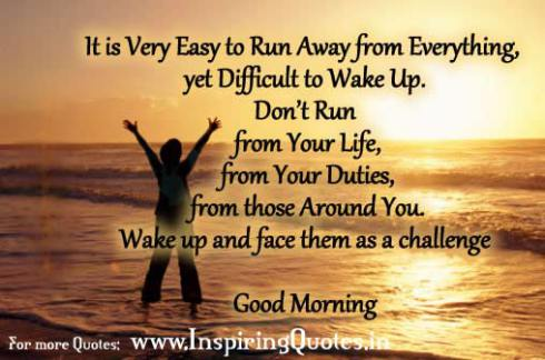Good Morning Inspiring Quote for Friends