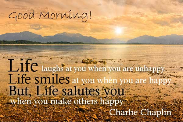 Good Morning Happy Life Quotes Images Wallpapers