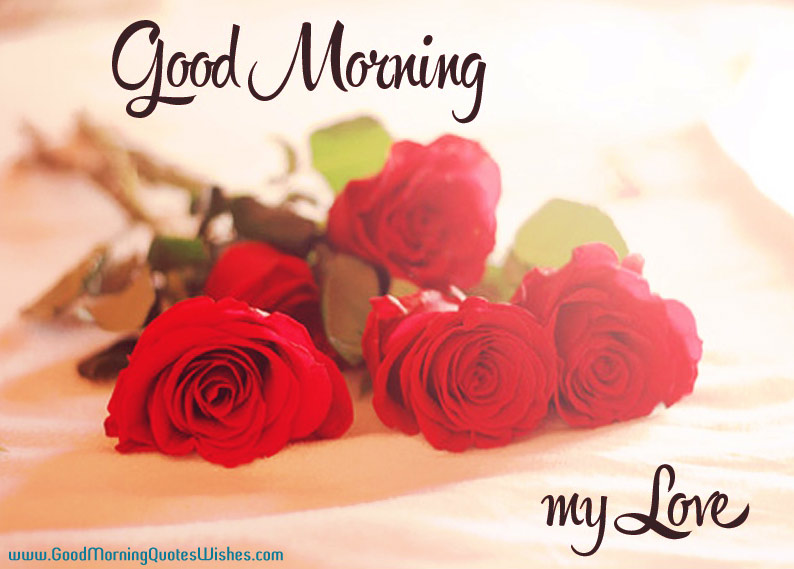 Good Morning My Love Quotes Wishes Wallpapers