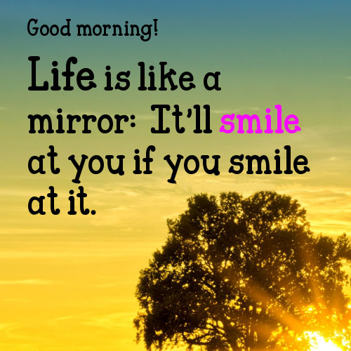 Good Morning Smile Quotes Images Wallpapers