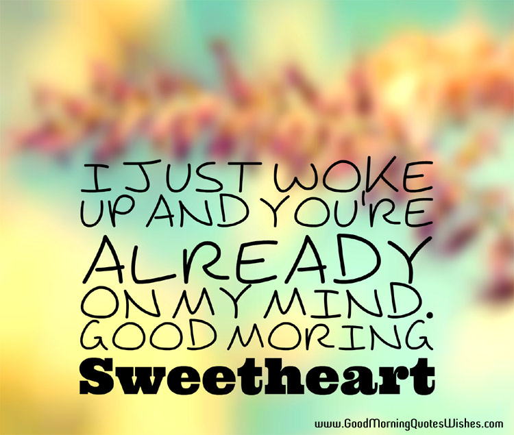 Good Morning Sweetheart Love You Quotes Images Wallpapers